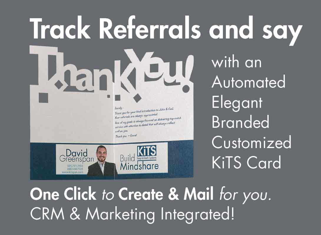 KiTS Referral Thank You Card for Realtors